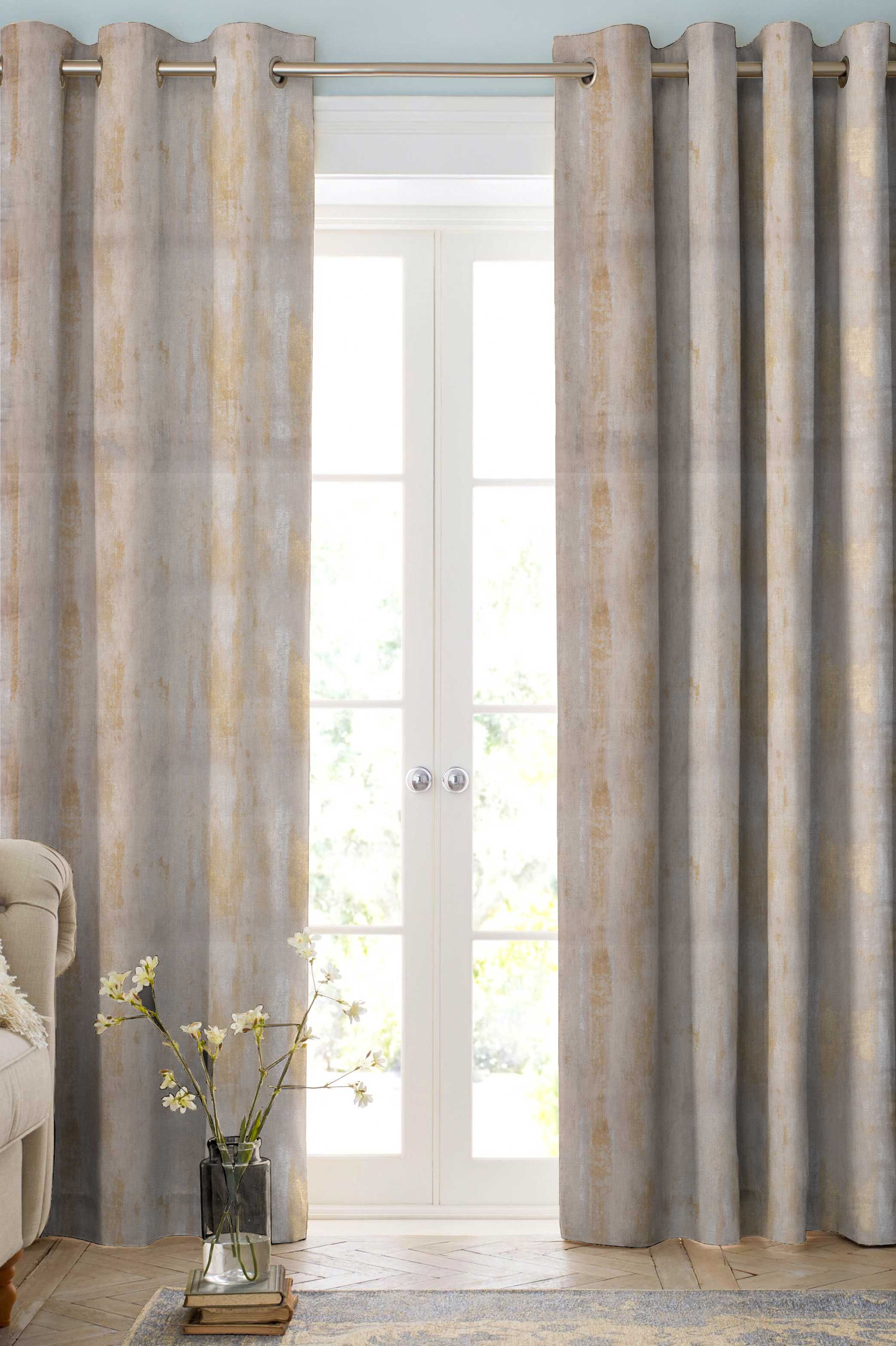 Cream Marble Tile Contemporary Curtains